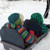 Pulling Kids in the SkiPulk.com Snowclipper Pulk Sled