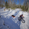 SkiPulk.com FatBike Pulk for Winter Camping or Bikepacking