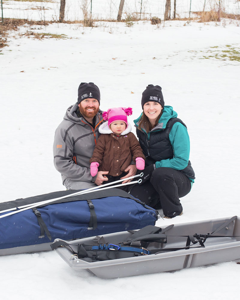 Grant, Auria & Ashley, and two of our Snowclipper Pulks