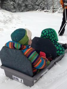 Snowclipper Pulk Pulling Kids