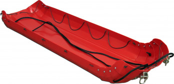 Northern Sled Works Five Foot Siglin Pulk with Channel Kit installed to attach Poles