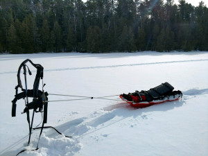 Backcountry Ice Fishing Pulk Sled
