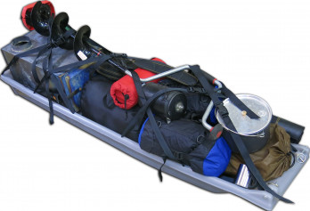 The Clipper XL packed for winter camping and ice fishing.